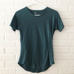 Madewell Teal Perfect Tee XXS XS Fitted